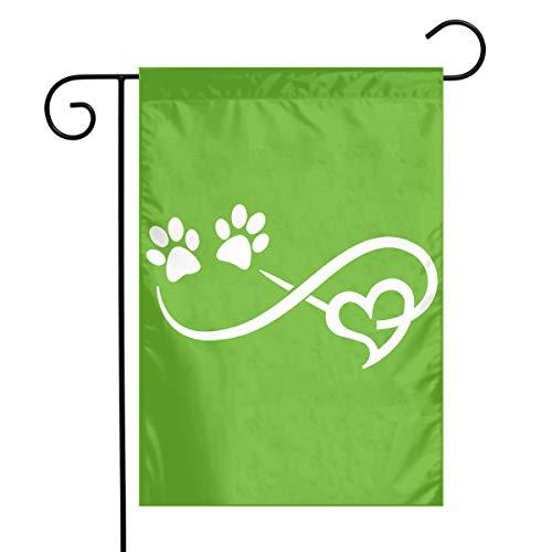 BRENDA SMALL Paw Print Garden Flag 12