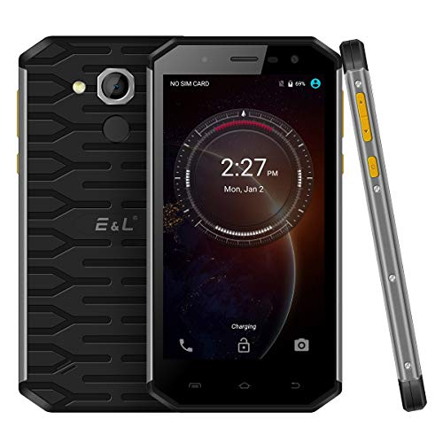 Rugged Unlocked Cellphone Android 6.0 Dual SIM E&L S50 Unlocked Phne IP68 Waterproof 4G LTE Rugged Cell Phones (Black)