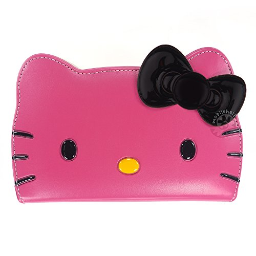 HELLO KITTY Face Flip Case for Samsung Galaxy Note4 Strap...