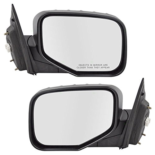 Driver and Passenger Power Side View Mirrors Replacement for Honda Pickup Truck 76250-SJC-A11ZJ 76200-SJC-A11ZJ