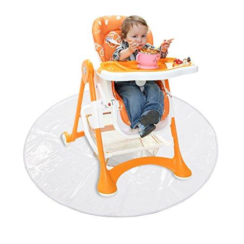 Foerteng Splat Mat Children's Dining Chair Pad Dirt-proof Outdoor Ground Mat Transparent Easy To Clean Play Mat Antique Wooden High Chair