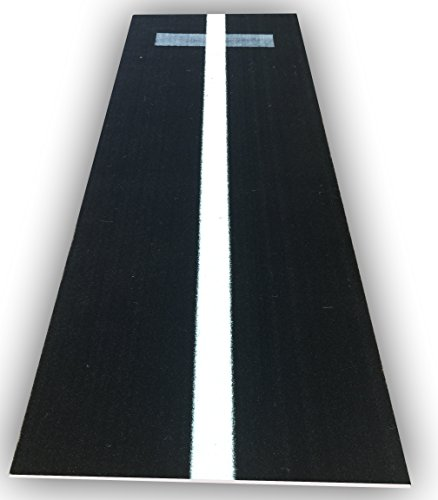 Premium 3' x 8' Turf Softball Pitching Mat in Black color
