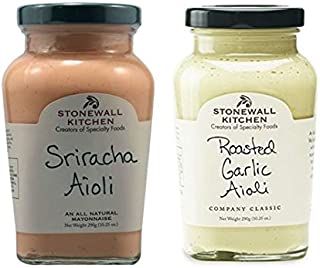 product image for Stonewall Kitchen All Natural Aioli Sriracha 10.25 oz & Roasted Garlic Aioli 10.25 oz (Pack of 2)