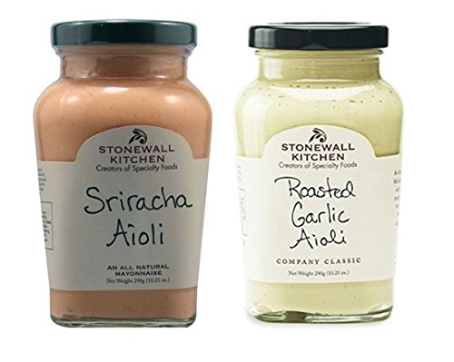 - Stonewall Kitchen All Natural Aioli Sriracha 10.25 oz & Roasted Garlic Aioli 10.25 oz (Pack of 2)