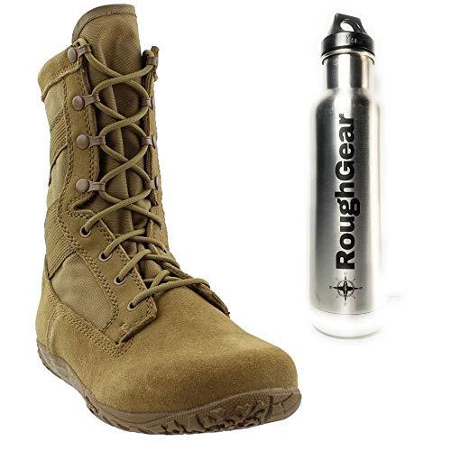 Belleville TR105 Men's Minimalist Training Boot, Coyote with Klean Kanteen Bundle (2 Items)