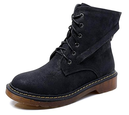 Encaje Inglaterra Cortas Oto Invierno Botas o Negro Zapatos E Botas Martin pYqB0UYw