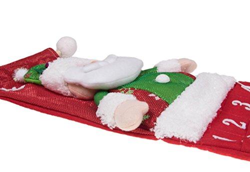[해외]빨간 산타 클로스 24 일 교수형 크리스마스 출현 달력 - 26 높이/Red Santa Claus 24 Day Hanging Christmas Advent Calendar - 26  Tall