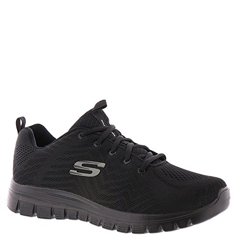 Skechers Sport Graceful Get Connected Women's Sneaker 6.5 C/D US Black-Black by Skechers