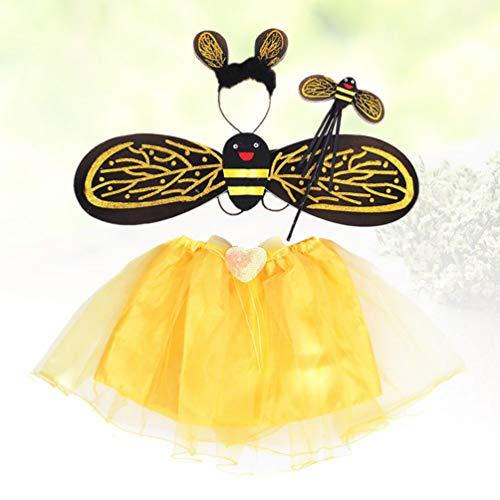 Amosfun Disfraz de abejorro para niñas, Disfraz de Abeja de Abeja ...