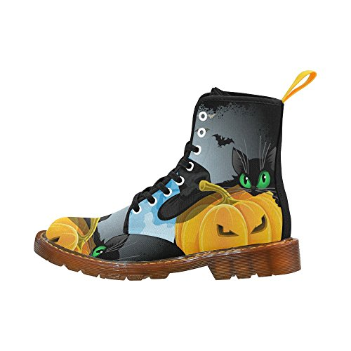 d story shoes happy halloween pumpkin bat lace up martin boots for women multi12 a0ph58dae