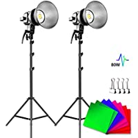 2-Pack GVM 80W 5600K LED CRI97+ Video Light with Tripod Stand (P80S-2D)