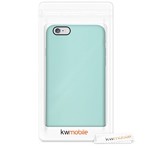 kwmobile TPU Silicone Case Compatible with Apple iPhone 6 Plus / 6S Plus - Soft Flexible Rubber Protective Cover - Mint