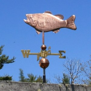 COPPER BASS WEATHERVANE MADE IN USA #319