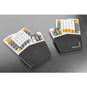 GRIFITI Fat Wrist Pad Massdrop Ergodox 2 Piece Set About 6.5 x 4.2 x 0.75 Inch Mirror Image Wrist Rests for Ergodox and Infinity Keyboard Sets (Black Nylon) (Color: Black Nylon)
