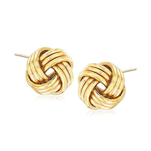 Ross-Simons 14K Gold Love Knot Stud Earrings (14k-yellow-gold)