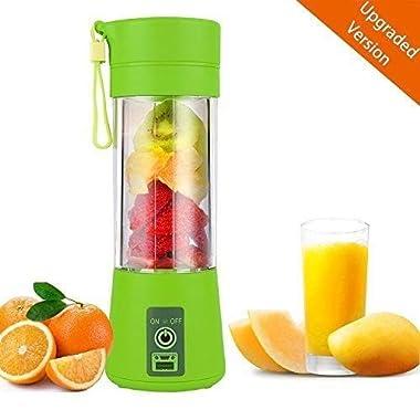 Qualimate Portable Electric USB Juice Maker Juicer Blender Bottle, Multicolour 7