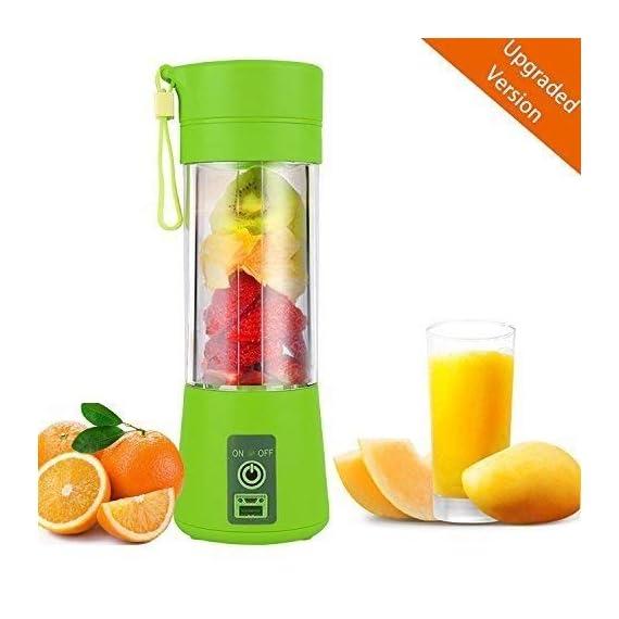 Qualimate Portable Electric USB Juice Maker Juicer Blender Bottle, Multicolour 2