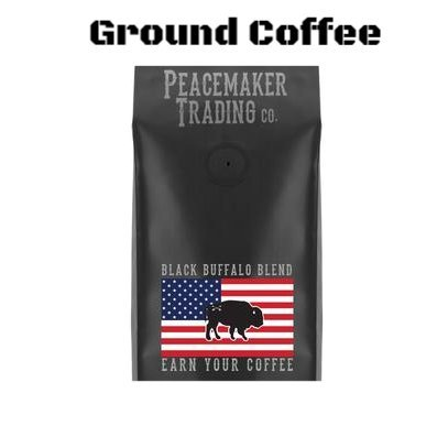 Black Rifle Coffee Company Ground Coffee 2-12oz Bags (Black Buffalo Blend Ground)