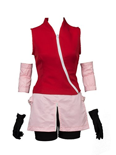 CosFantasy Japan Anime Cosplay Shippuden Haruno Sakura Costume mp000132 (Women M)