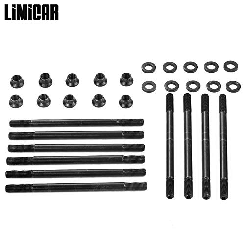LIMICAR Engine Cylinder Head Studs Kit For 1988-1995 Honda Civic 1.6L D16A D16A6 D16Z6 SOHC 208-4301 -