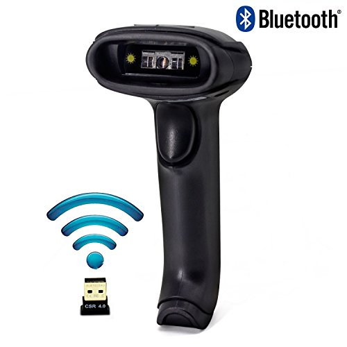 Wireless Bluetooth Barcode Scanner, Symcode Handheld USB CCD Cordless Barcode Scanner with USB Receiver Support Storing Codes Rechargeable Bar Code Reader Long Battery Life