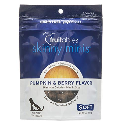 - Fruitables Skinny Minis Grain Free Soft Dog Treats Pumpkin & Berry Flavor 5 Oz
