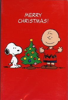peanuts charlie brown snoopy pack of 6 christmas cards