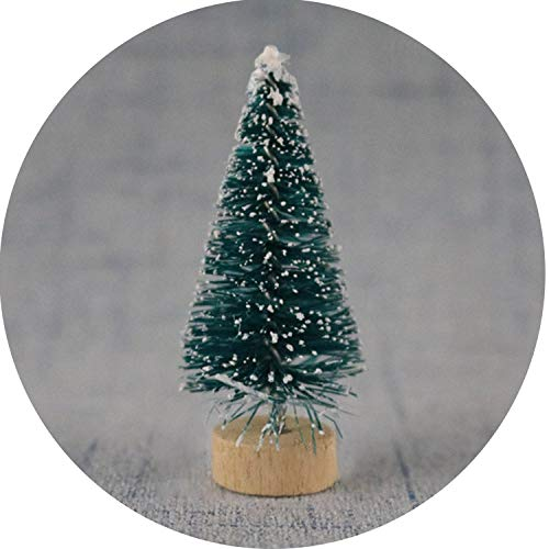 DIY Christmas Tree 4 Colors Small Pine Tree Mini Trees Placed in TheChristmas Decoration Kids Gifts,bl,8.5cm ()
