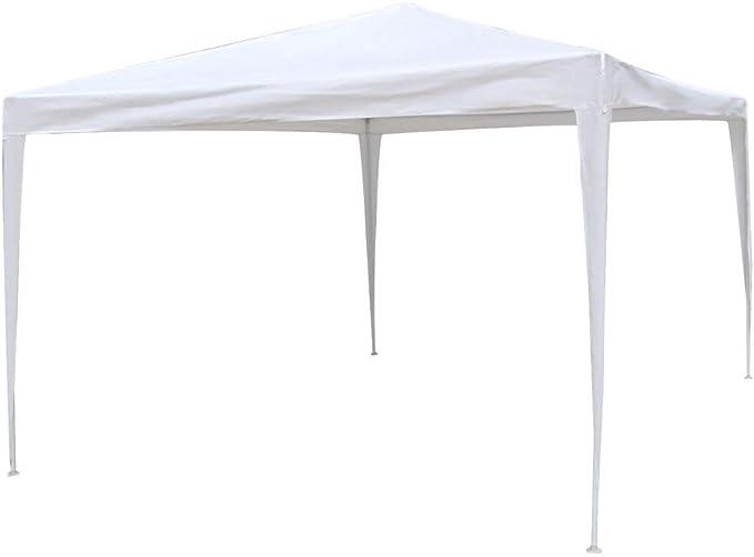 Gazebo Desmontable Blanco de Rafia plástica de 300x400 cm ...