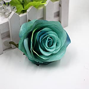 Flower Heads in Bulk Wholesale for Crafts Silk Fake Flower Head Artificial Flowers Blooming Roses Wedding Party Home Decoration DIY Festival Shoes Dress Decor 5pcs/lot 8cm 4
