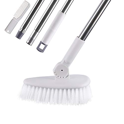 YCUTE Upgraded Tub & Tile Scrub Brush with Long Handle 52
