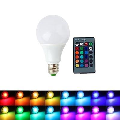 ALED LIGHT AC85-265V E27 9W RGB Ampoule LED 16 Changement de Couleur Ampoule + Télécommande IR 24 Télécommande Clé pour Festival de Vacances Décoration Parti Maison Lumière de