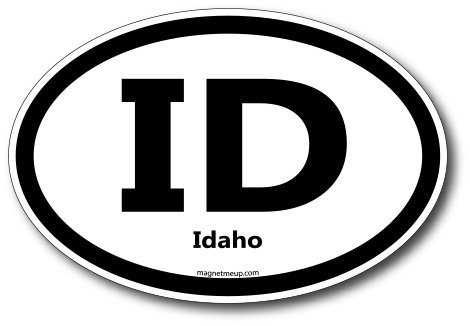 ID Idaho Car Magnet US State Oval Refrigerator Locker SUV Heavy Duty Waterproof