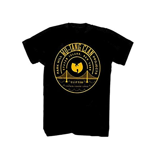 Wu Tang Clan Park Hill Projects Clifton Est 1992 T-shirt - Black