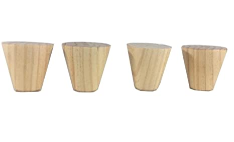 pack 4 patas para muebles en madera maciza de haya, colores ...