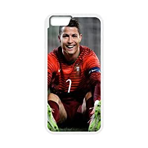 iPhone 6 Plus 5.5 Inch Cell Phone Case White Ronaldo CR7 Smile GY9022447