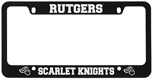 Rutgers University -Metal License Plate Frame-Black (Rutgers License Plate)