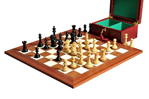Ebonized Chess (The House of Staunton - The Leicester Series Chess Set, Box, Board Combination - 4.0