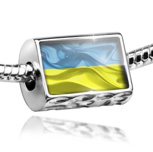 NEONBLOND Charm Ukraine 3D Flag - Bead Fit All European Bracelets