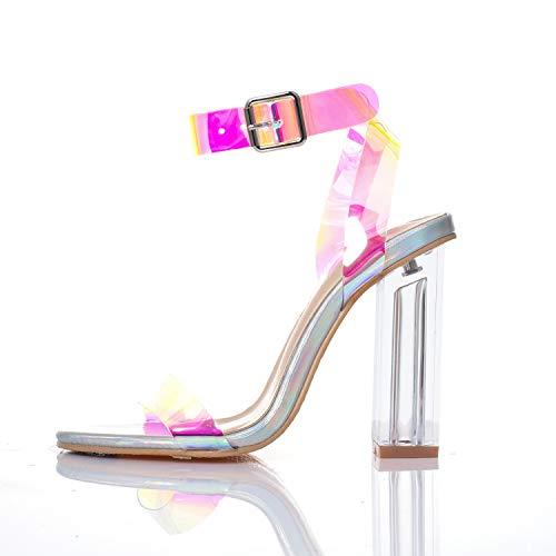 Clear Wedge High Heel - 9