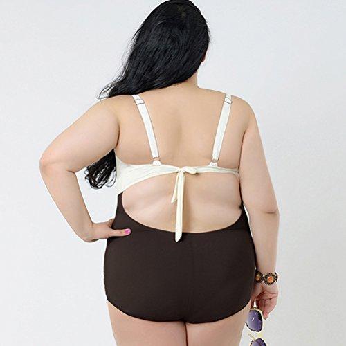 Zhhlaixing Women Plus size Sling Halterneck Swimsuit Fashion Cover-up Swimwear Beachwear White