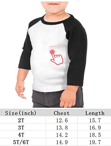 yimo Crowbar American Band Unisex Toddler Baseball Jersey Contrast 3//4 Sleeves Tee