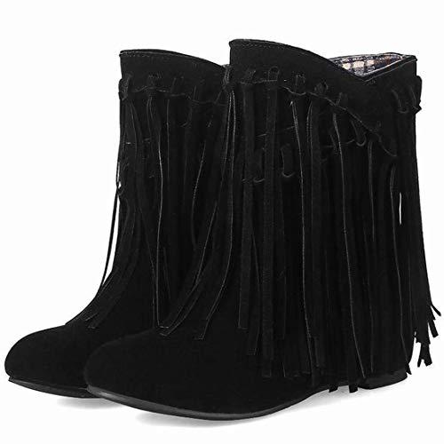 Femme Talons Bottes Hiver Et Pour Automne Vitalo Chaussures Compenses Compenss Noir qZOXwn4TF
