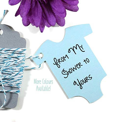 - Light Blue Baby Shower Tags - From My Shower to Yours - Baby Sprinkle (Set of 20)