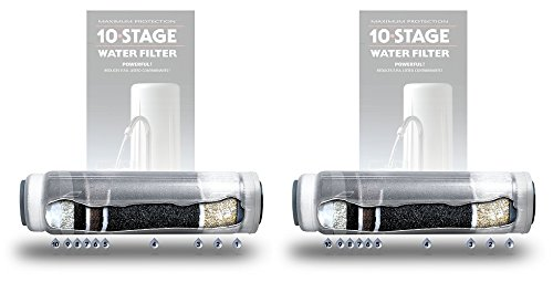 New Wave Enviro 10 Stage Water Filter Replacement Cartridge (Pack of 2) by New Wave