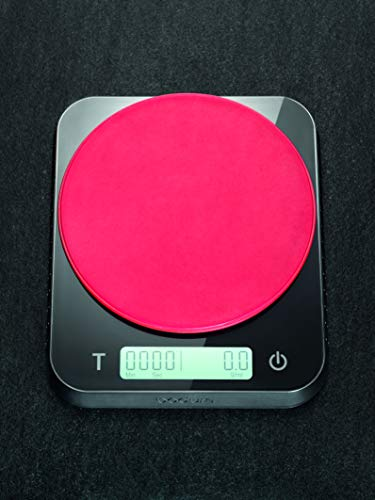Bodum Barista Coffee and Food Scale with Built-in Timer, 6 in x 5 in, Black