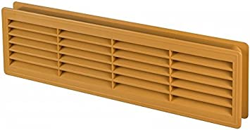 Alder 18 x 5.3 inch Two Sided Ventilation Cover Bathroom Door Air Vent Grille 455mm x 135mm