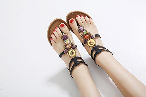 Caviglia beads Donna Cinturino Alla Con Black Ommda wxOPzCqx4