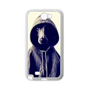 Black and White Photograph Animal Series Fashion Dog Design Hot Custom Luxury Cover Case For Samsung N7100 GALAXY Note2(White) with Best Plastic ALL MY DREAMS WANGJING JINDA