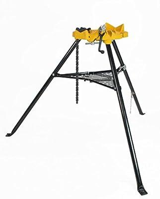 Steel Dragon Tools 460 Portable 6 Inch Tripod Pipe Chain Vise Stand fits RIDGID 72037 36273